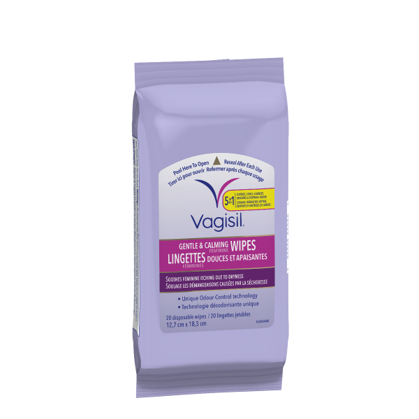 Vagisil® Gentle & Calming Feminine Wipes (Pouch)